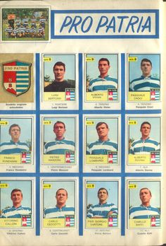 Pro Patria of Italy team stickers in Retro Football, Football Kits, Italy Team, Image Foot, Team Photos, Album, Baseball Cards, Humor, History