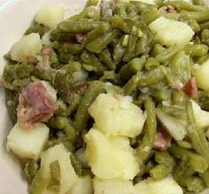 """Green Beans & Potatoes: """"Just like Mom used to make and like I have made for decades."""" -DEEP Southern Dishes, Southern Recipes, Southern Food, Southern Comfort, Southern Style, Southern Green Beans, Potato Recipes, Side Dish Recipes, Vegetable Recipes"""