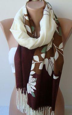 Brown Pashmina shawl  Shawls / Women Scarf  Cowl by trendscarf, $25.90