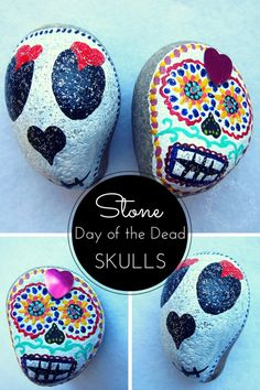 painted stones - a fun craft for kids to celebrate Day of the Dead