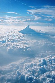 Mt. Fuji poking through the clouds