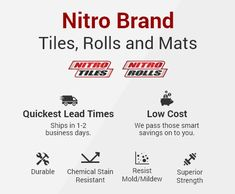 Diamond pattern nitro rolls offer the best value roll out vinyl garage floor covering on the market. Rolls can be used as a wall to wall garage flooring or as a mat or pad to cover one area of a garage. Similar to Coleman flooring. Vinyl Garage Flooring, Garage Floor Mats, Garage Walls, Garage Floor Coatings, Concrete Garages, Wall Molding, Mold And Mildew, Diamond Pattern, Commercial