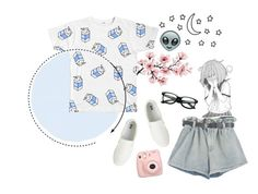 """""""✧ – we are all stars in the sky   + tag"""" by chasing-ghxsts ❤ liked on Polyvore featuring Uniqlo and Fujifilm"""