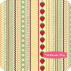Fly a Kite Cream Strawberry Yardage SKU# C2782-CREAM - Fat Quarter Shop