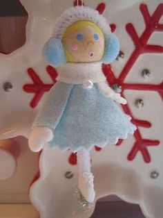 precious ice skating ornament diy -- Hmm, maybe make this year's ornament for the kiddo instead of buying one?
