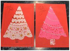 Skapligt Enkelt: Julgranar av tårtpapper Christmas Mix, Christmas Cards, Xmas, Diy Paper, Diy For Kids, Creative Art, Cardmaking, Presents, Scrapbook