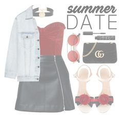 """""""Summer Date Fun .. """" by essentiallyessence on Polyvore featuring Balmain, Guild Prime, Alexander Wang, Gucci, ZeroUV and NARS Cosmetics"""