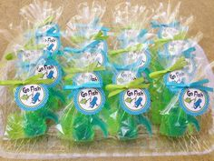 FISH SOAP FAVORS (20 Soaps) - Dr. Seuss Inspired Birthday Party Favor, Seuss Baby Shower Favor, Lorax, Oh the Places Inspired. $16.50, via Etsy.