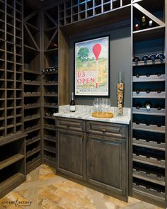 A wine connoisseur needs his or her wine bottles to be in pristine condition. This actually custom rustic wine cabinet features wine bottle space for days.  Learn more here: