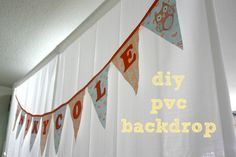 pvc backdrop tutorial