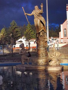 Monument to Bochica-Bochica is a figure in the mythology of the Muisca in Cuitiva