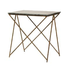 Green Stone Table With Brass legs | Side Tables & Stools | Furniture  - Me and My Trend