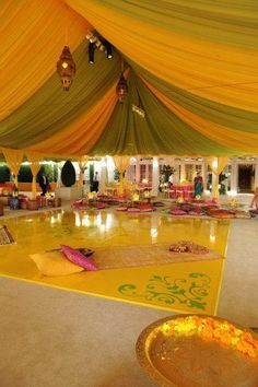 Indian Weddings, Tent and Decoration - Ladies Sangeet?