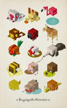 Isometric Animals by hedorah