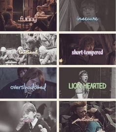 The Qualities of Ron :)  I don't agree with this one as much as I do Hermione's and Harry's, but it's pretty close.