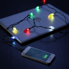This Christmas light phone charger: | 17 Gifts For People Who Wish It Was Christmas All The Time