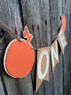 Fall First Birthday ONE Banner!  Add this adorable banner to your little ones high chair at his or her first birthday party! DETAILS: - Each