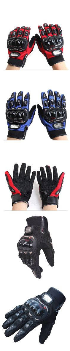 Pro-biker MCS-01C High Protective Motorbike Scooter Road Motorcycle Full Finger Gloves Tactical Guantes Luvas Sports Black Blue