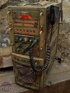 custom pc case - battlefield case. Like the addition of a cb radio.
