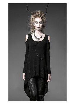 Visual kei fashion Gothic Punk hand sew the cross lady tee shirt dress free size #punkrave #punk