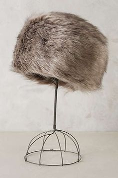 Anthropologie - Faux-Fur Pillbox Hat