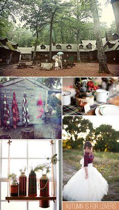 Warm Flannel Fall Wedding Inspiration via Stockroom Vintage