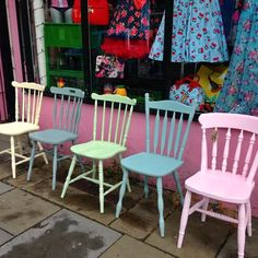 Some of the fab Frenchic colours available from Doodledash at Banbury Antiques Centre.