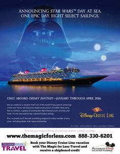 Disney Cruise Line Star Wars Day at Sea - Select Sailings in 2016  #MayTheForceBeWithYou #DCL  #DoOrDoNot