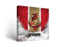 Otterbein Cardinals Vintage Canvas Print Square