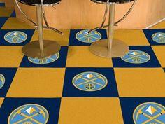 The Denver Nuggets NBA Fan Cave Team Carpet Tiles
