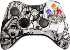 White-Nightmare-Custom-Xbox-360-Controller-Brand-New-Xbox-360-Controller