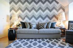 Papel de parede chevron: Tendência de decoração 2016