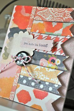 Multiple designer series papers // great use for scraps!!