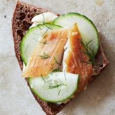 Scandi Toast #smoked #fish #pumpernickel #snack #brunch #lunch