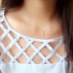 gold Cross necklace / gold cross pendant necklace / gold cross with diamonds / gold Chudidhar Neck Designs, Salwar Neck Designs, Saree Blouse Neck Designs, Churidar Designs, Neck Designs For Suits, Kurta Neck Design, Neckline Designs, Sleeves Designs For Dresses, Dress Neck Designs