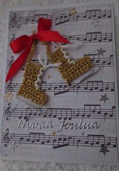 Joulukortteja :: Elisedesign-and-bake Christmas Labels, Diy Christmas Cards, Christmas 2019, Christmas Crafts, Christmas Decorations, Xmas, Holiday Decor, Bday Cards, Crochet Crafts