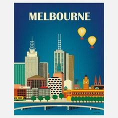 Melbourne Print, $22, now featured on Fab. Love this even more!