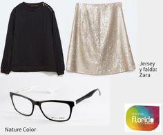 Looks de Navidad 2014. Negro y oro. #opticasflorida #Mallorca #gafas #NatureColor #moda