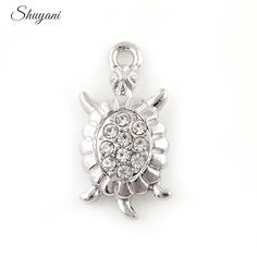 Find More Charms Information about 12*24mm Rhinestone Silver Zinc Alloy Animal Sea Turtle Charm Pendants Diy Necklace Bracelet Jewelry Making Accessories Wholesale,High Quality bracelet ruby,China bracelet vintage Suppliers, Cheap bracelet victorian from shuyani Official Store on Aliexpress.com