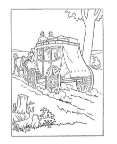 Superb American Girl Coloring Pages 90 Early American Transportation Coloring
