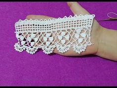 Çeyizlik havlu kenarı, uç danteli yapılışı &crochet - YouTube Filet Crochet, Irish Crochet, Crochet Flowers, Crochet Lace, Crochet Gloves Pattern, Cut Out Shapes, Crochet Table Runner, Viking Tattoo Design, Irish Lace