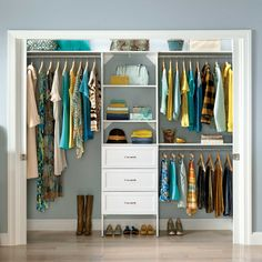 """You'll love the SuiteSymphony 84""""W - 120""""W Closet System at Wayfair - Great Deals on all Storage & Housekeeping products with Free Shipping on most stuff, even the big stuff."""