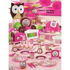 Look Whoo's 1 Pink Party Supplies, 66504/order ones without the 1
