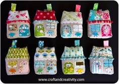 Dagens pyssel, tyghus – Craft of the Day, fabric houses | Craft & Creativity