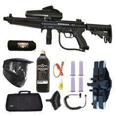 Tippmann A-5 Paintball Marker Gun 3Skull 4+1 Flatline Sniper Set + Tank Cover. Available at UltimatePaintball.com