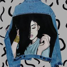 64 Ideas for pop art clothes paint Painted Denim Jacket, Painted Jeans, Painted Clothes, Hand Painted, Custom Denim Jackets, Looks Jeans, Diy Clothes, Custom Clothes, Denim Art