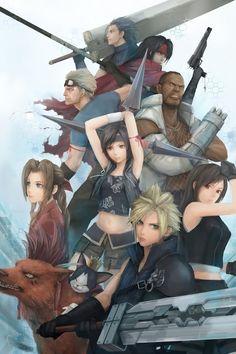 Final Fantasy VII - the second-best FF, in my opinion. Final Fantasy Vii Remake, Final Fantasy Artwork, Final Fantasy Characters, Fantasy Love, Fantasy Series, Fantasy Team, Manga Anime, Art Anime, Geeks