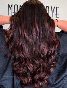 Hair Color Auburn, Auburn Hair, Light Brown Hair, Dark Hair, Thick Hair, Hair Color Guide, Hair Colour, Red Highlights In Brown Hair, Fall Hair Colors