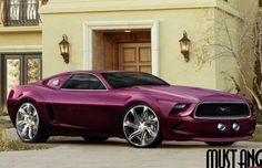2014 Ford Mustang unofficial concept car looking ooh so perfect in purple! ♥