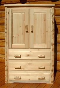 Amish Log Furniture Rustic Aspen Armoire